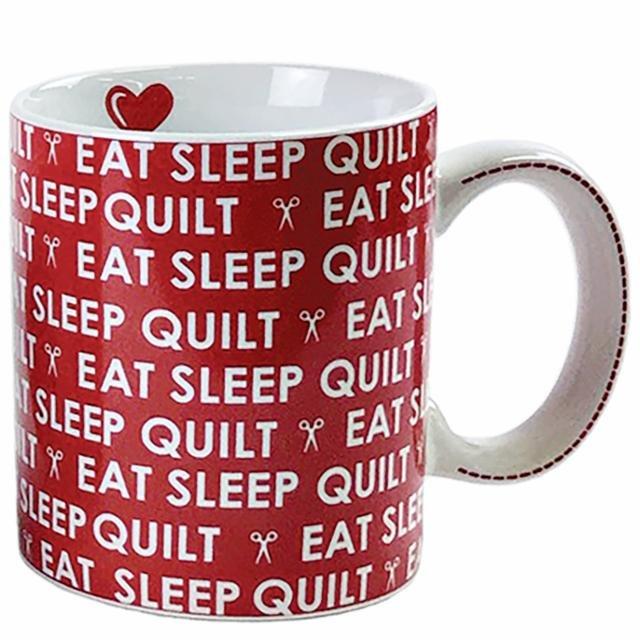 15oz Mug - Eat Sleep Quilt