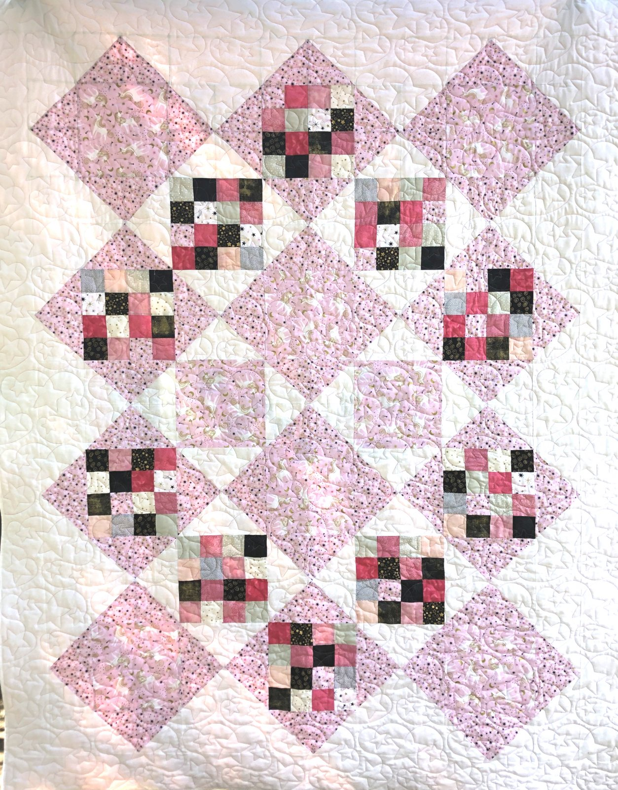 Feature It 3 Quilt Kit (70 x 90) - Unicorn Toss