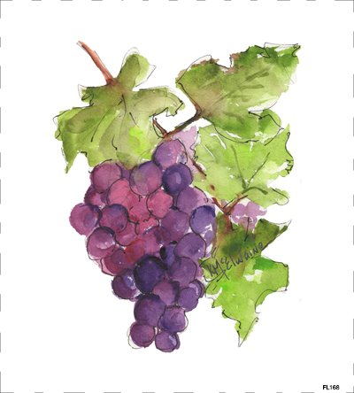 Grapes Cluster Quilt Block FL168