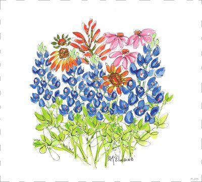 Mixed Wildflowers Quilt Block FL315