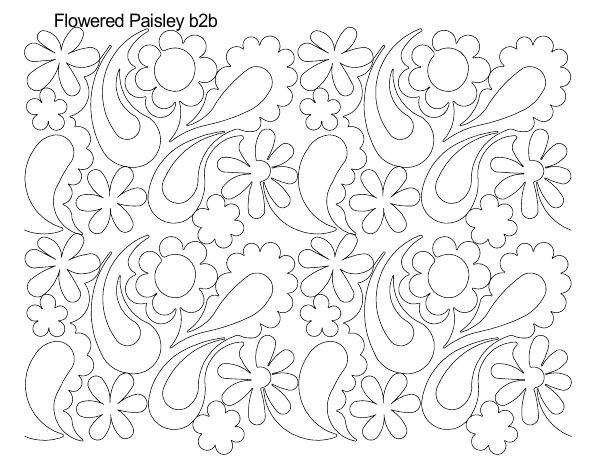 Flowered Paisley B2B