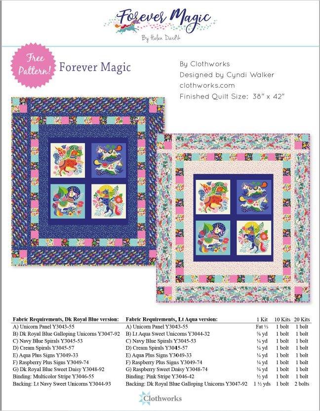 Forever Magic Unicorn Panel Kit - Royal Blue - 38 x 42