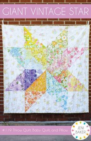 Giant Vintage Star Pattern - 36 x 36 or 68 x 68 or 24 x 24