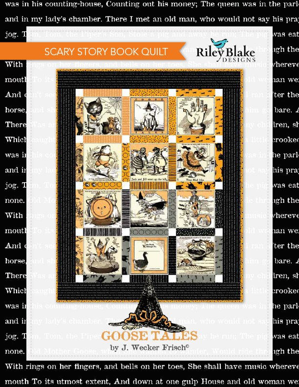 Scary Story Book Quilt Kit - Goose Tales Halloween (44x 55)