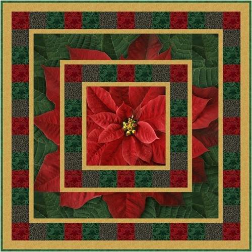 Abundance Quilt Kit - Red Dream Big Holiday - 56 x 56