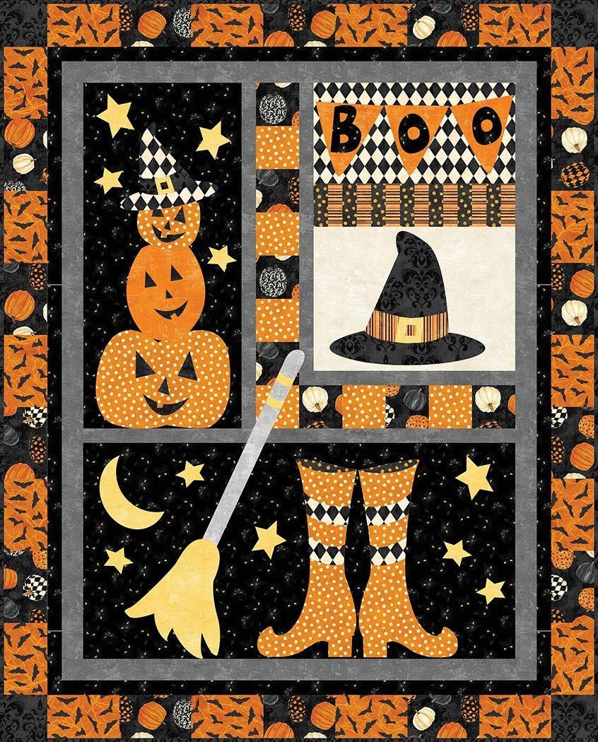 Hocus Pocus Quilt Kit with Black Cat Capers - 41 x 51
