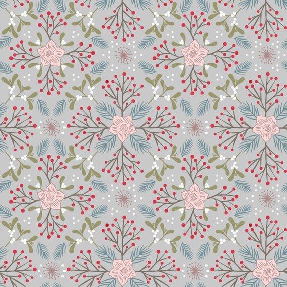Winter Floral Grey C45.2