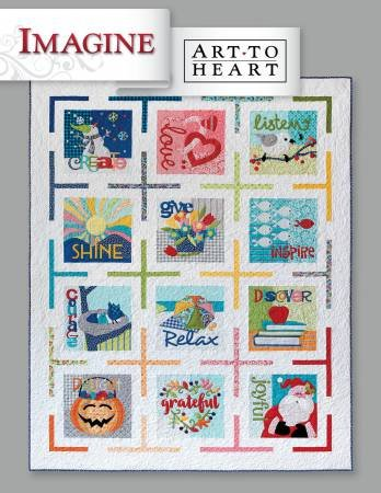 Imagine Wall Hanging BOM - Complete Set of 12 - 14 x 14 each