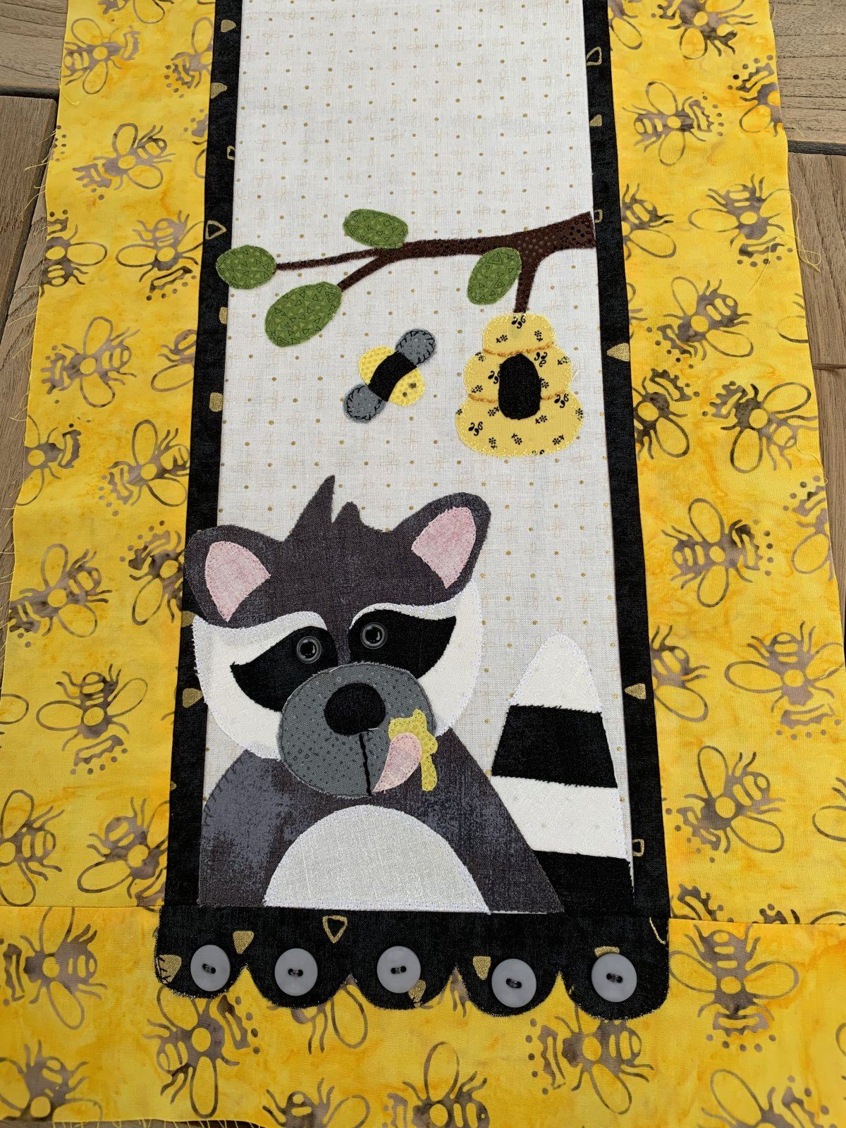 Little Quilts Runner -  Raccoon