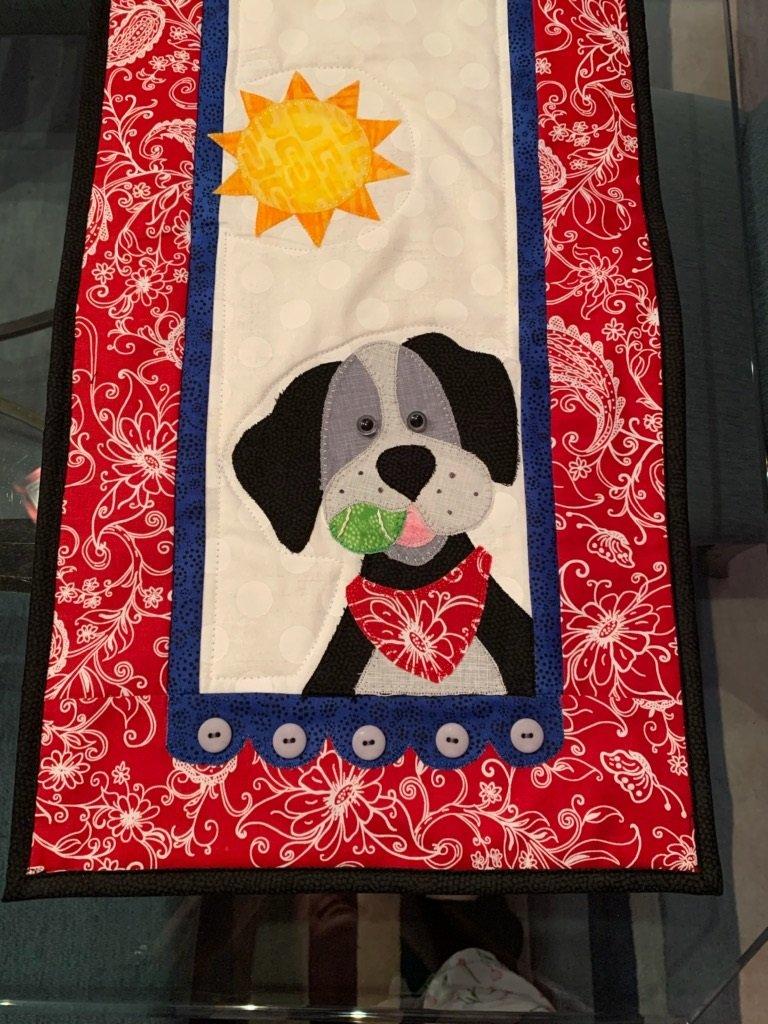 Little Quilts Runner -  Dog
