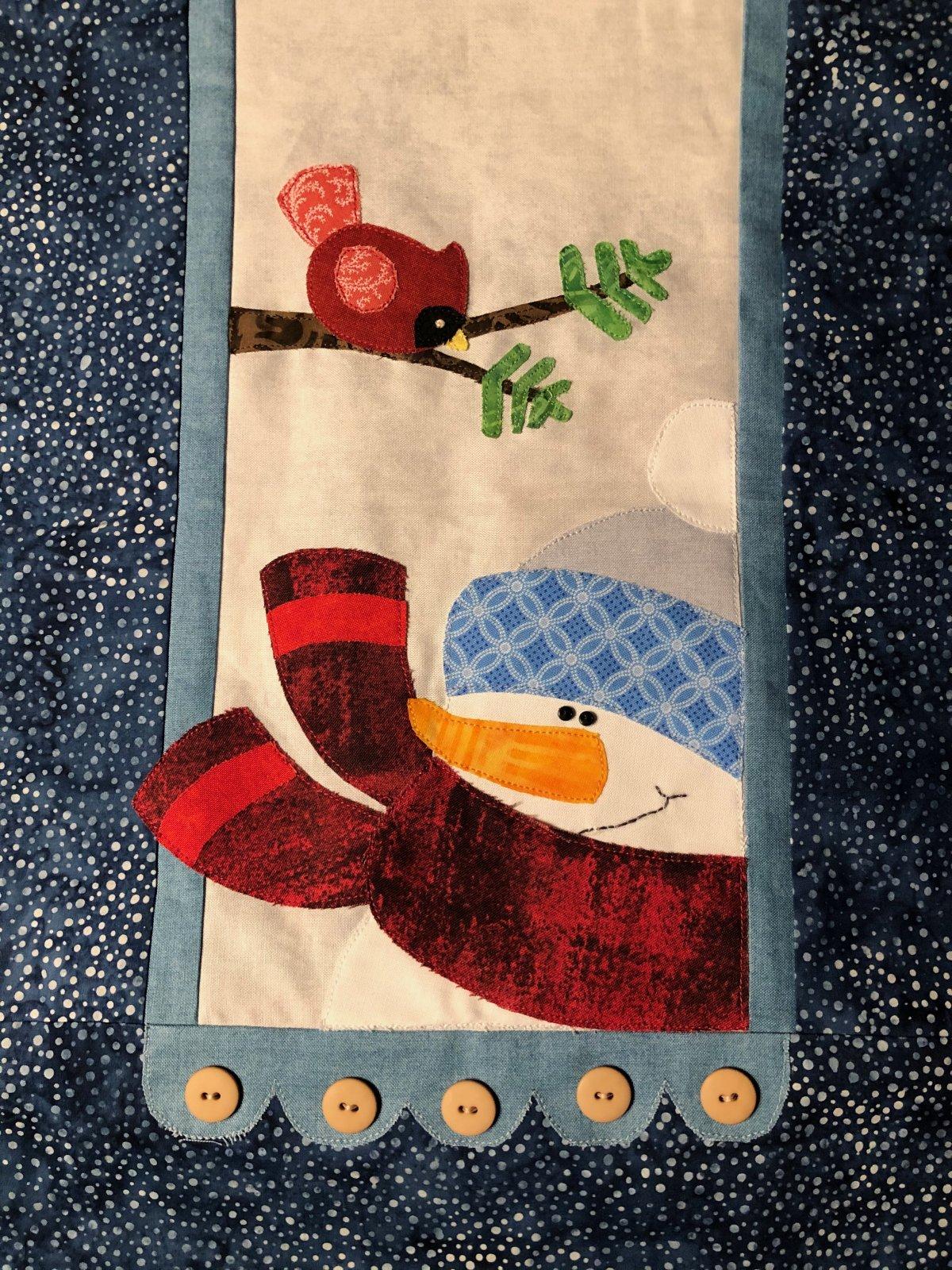 Little Quilts BOM - Snowman