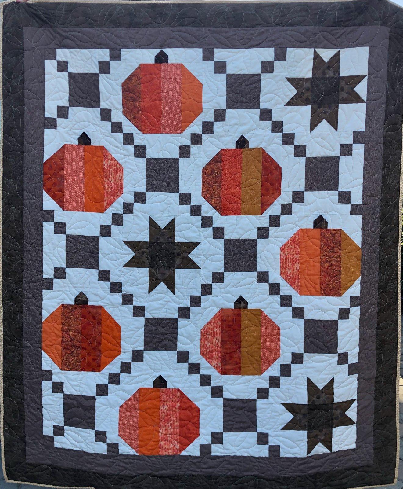 Pumpkin Spice Quilt Kit -  63' x 75'