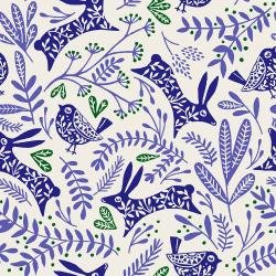 JM103-RB1 Winter Dreams - Best Buddies - Royal Blue Fabric