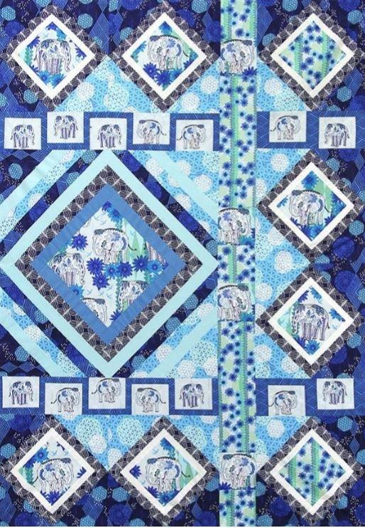 Kismet Quilt Kit by Valori Wells - Ocean Colorway