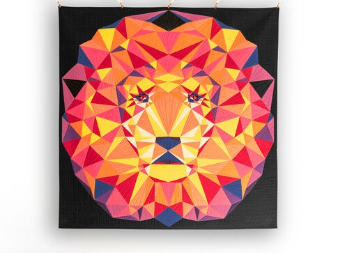 PREORDER - Jungle Abstractions: The Lion Quilt Kit - Ultra Brights - 60 x 60