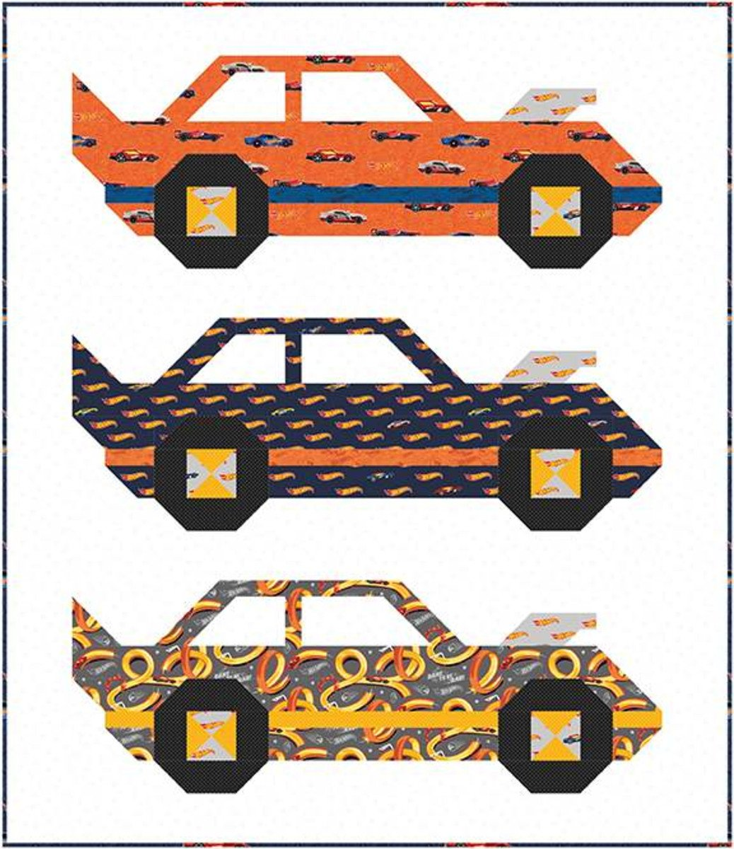 Hot Wheels Boxed Quilt Kit by Riley Blake - 44 x 50