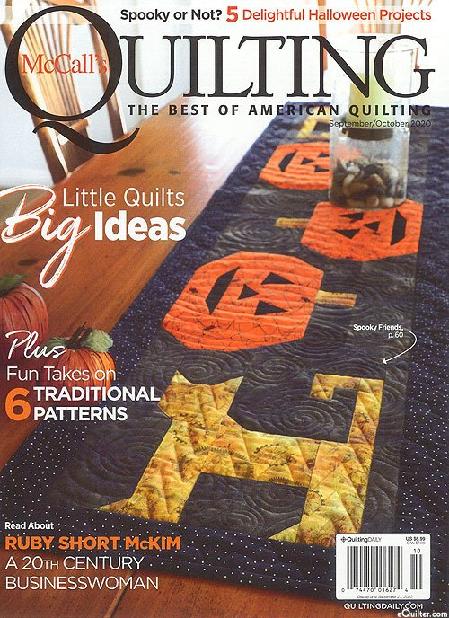 McCall's Quilting Magazine - September/October 2020