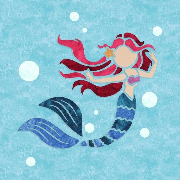 Mermaid (15 x 15) - Laser Cut Applique Pieces