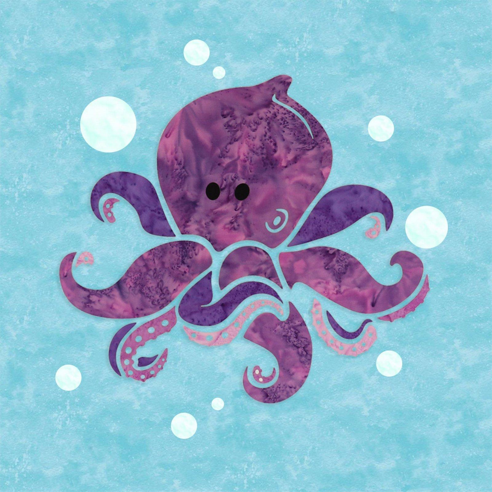 Octopus (15 x 15) - Laser Cut Applique Pieces