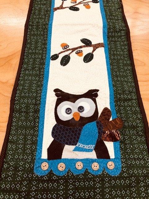 Little Quilts Runner -  Owl