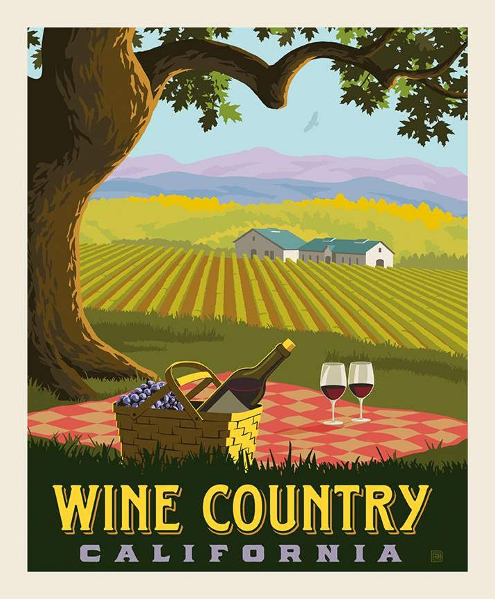 Riley Blake - Destinations Panel Wine Country 36 x 43-1/2