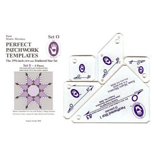 Feathered Star Templates Set O