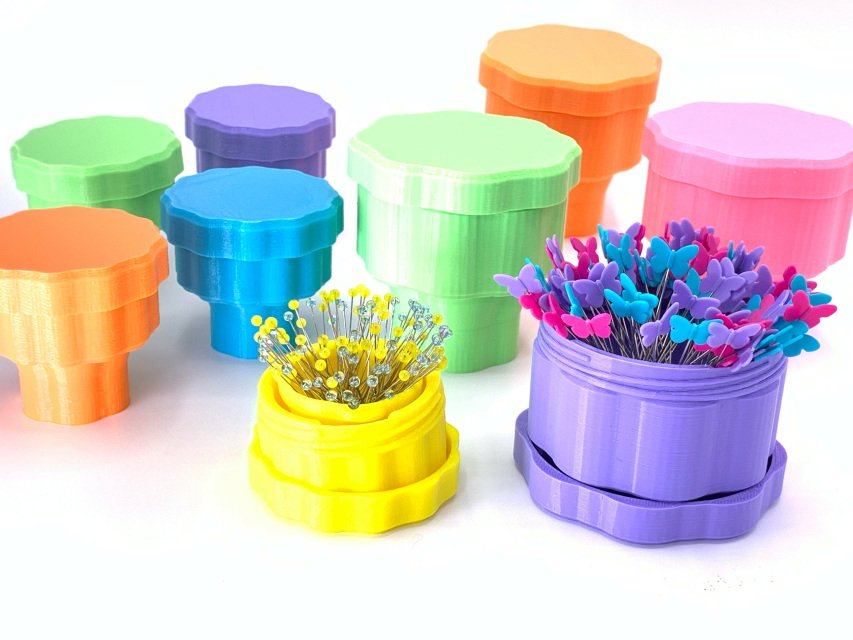 Magnetic Pin Cup Std 36mm for 1.5-inch pins - Lilac