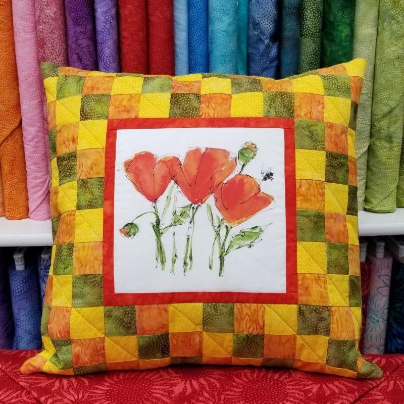 Framed Pillow Kit - Poppy 18 x 18