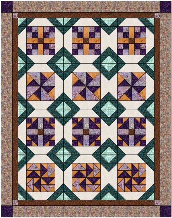 Possibilities Batik Jewel Tones Kit - Option 3 - 60 x 76