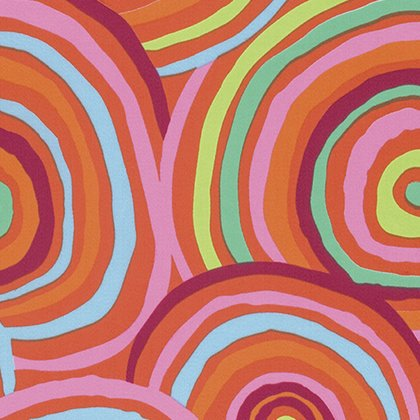 108 Backing Fabric -Circles - Red