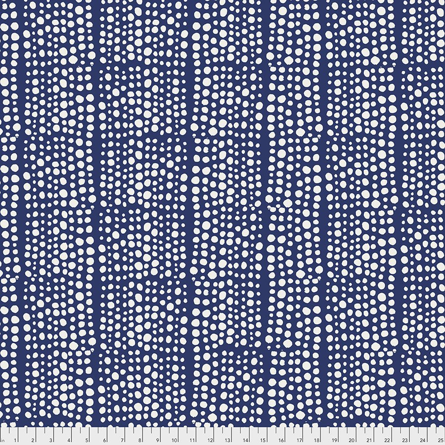 Backing Fabric - Dots - Indigo