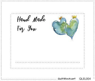 Handmade for You Quilt Block Label 4-1/2 x 3-1/2 -  QLEL004