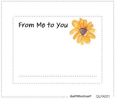 From Me to You Quilt Block Label 4-1/2 x 3-1/2 -  QLFA031