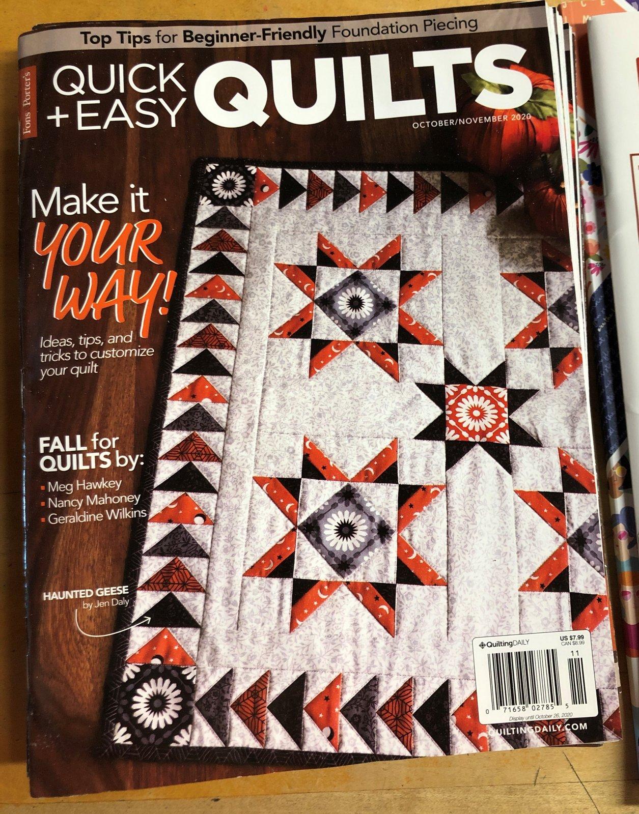 Fons & Porter Quilt & Easy Quilts Magazine - October/November 2020