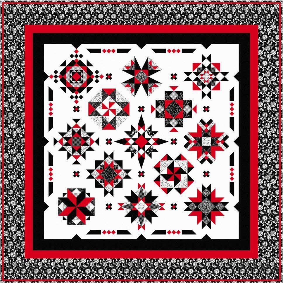 Red at Night 2 Quilt Kit - 83 x 83