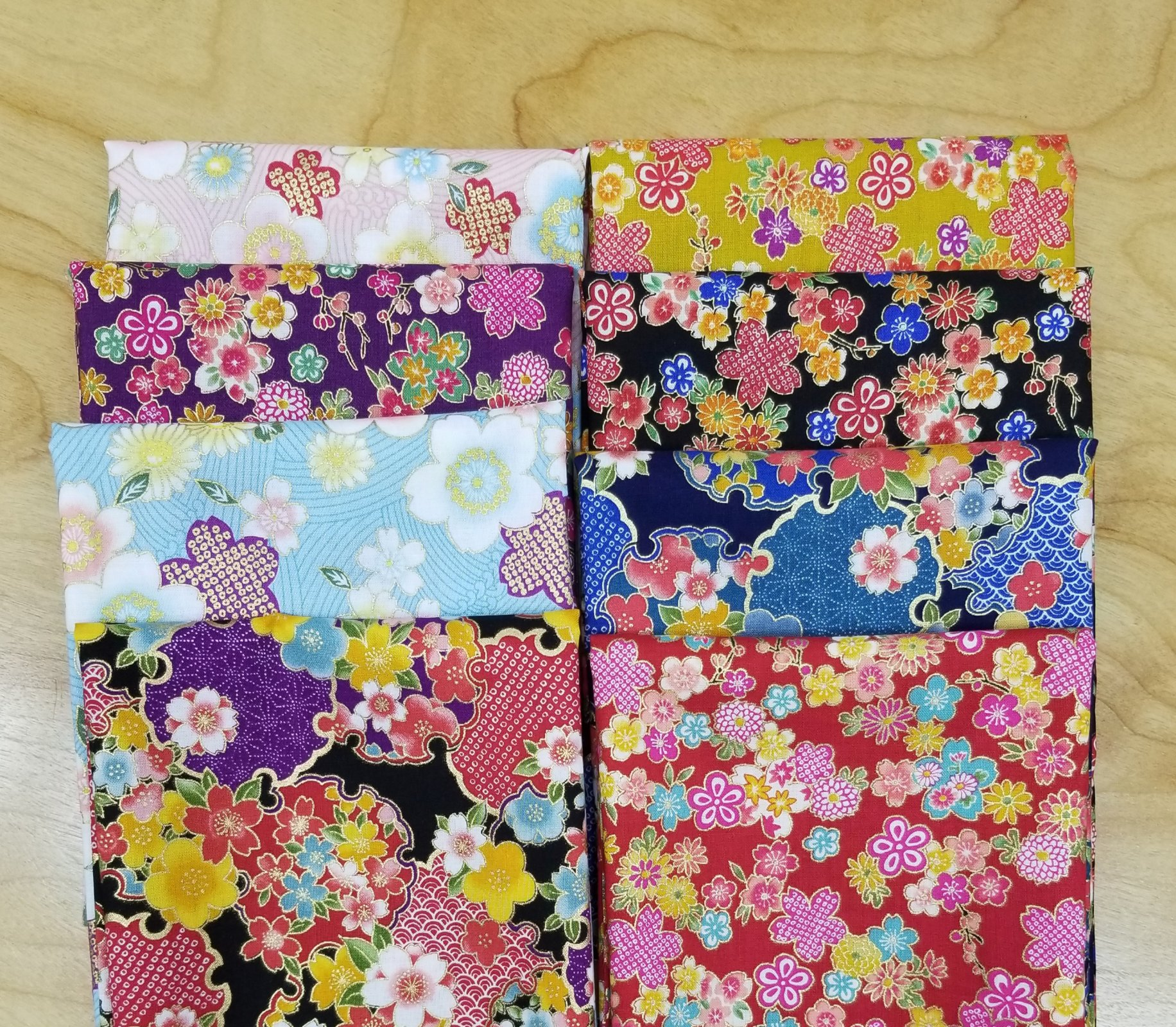 Sakura Brook Metallic - 8 Fat Quarter Pack