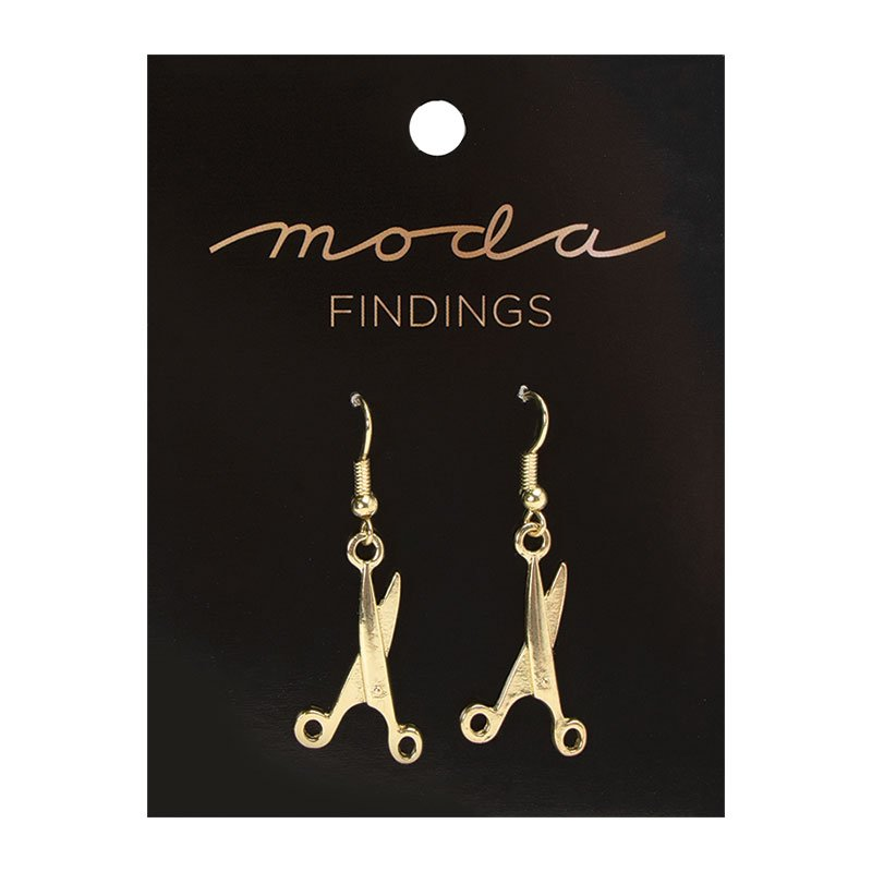 Earrings Scissor Gold