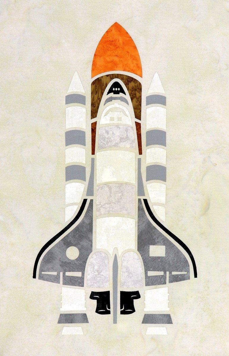 Space Shuttle (12 x 18) - Laser Cut Applique Pieces