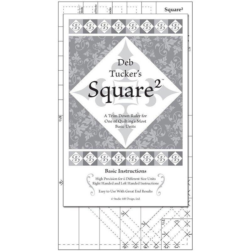 Studio 180 Square Squared Ruler - UDT09 - 6-1/2 x 12