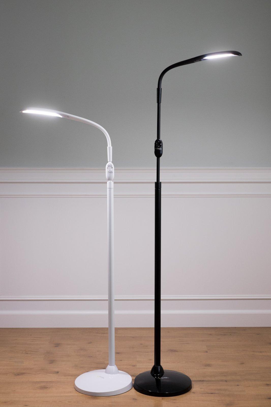 Stella>>SKY TWO Floor Lamp - White or Black