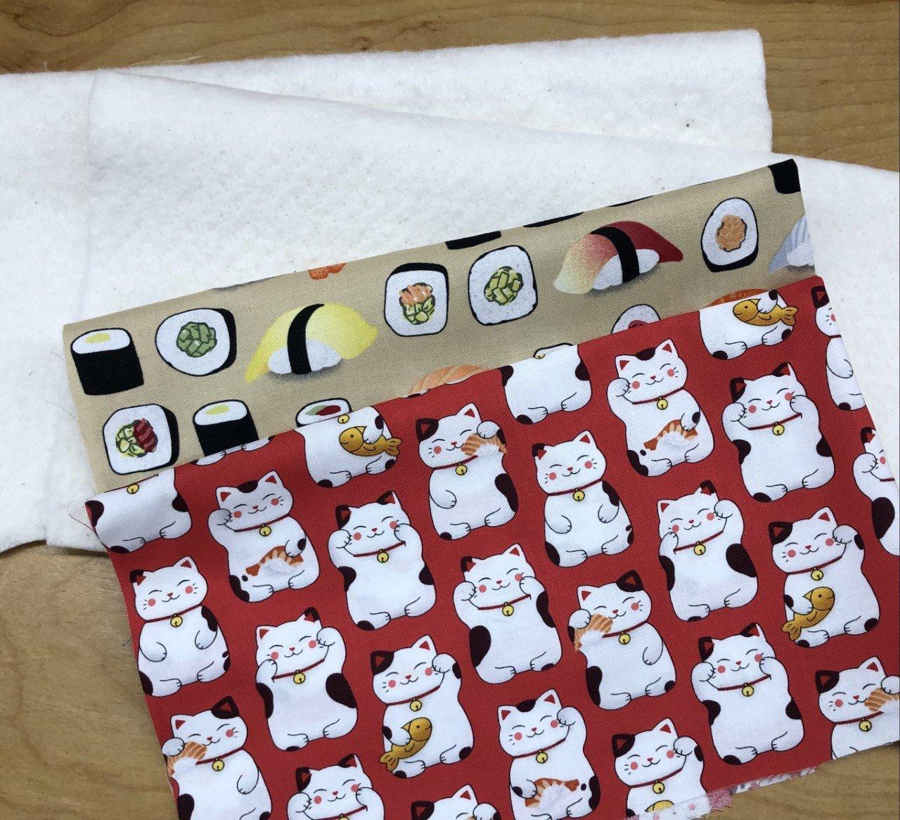 Micro Cozy Kit-Sushi/Cat (fits 5 - 6 bowl)