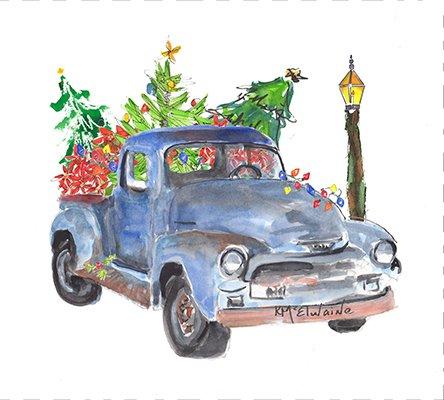Christmas Truck Quilt Block
