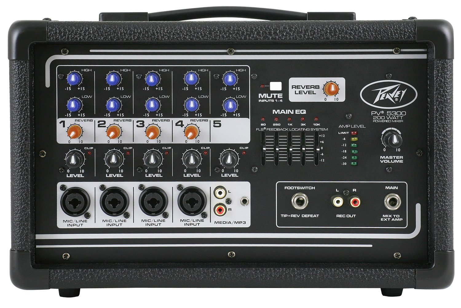 Peavey 03601820 PV5300 All In One Powered Mixer