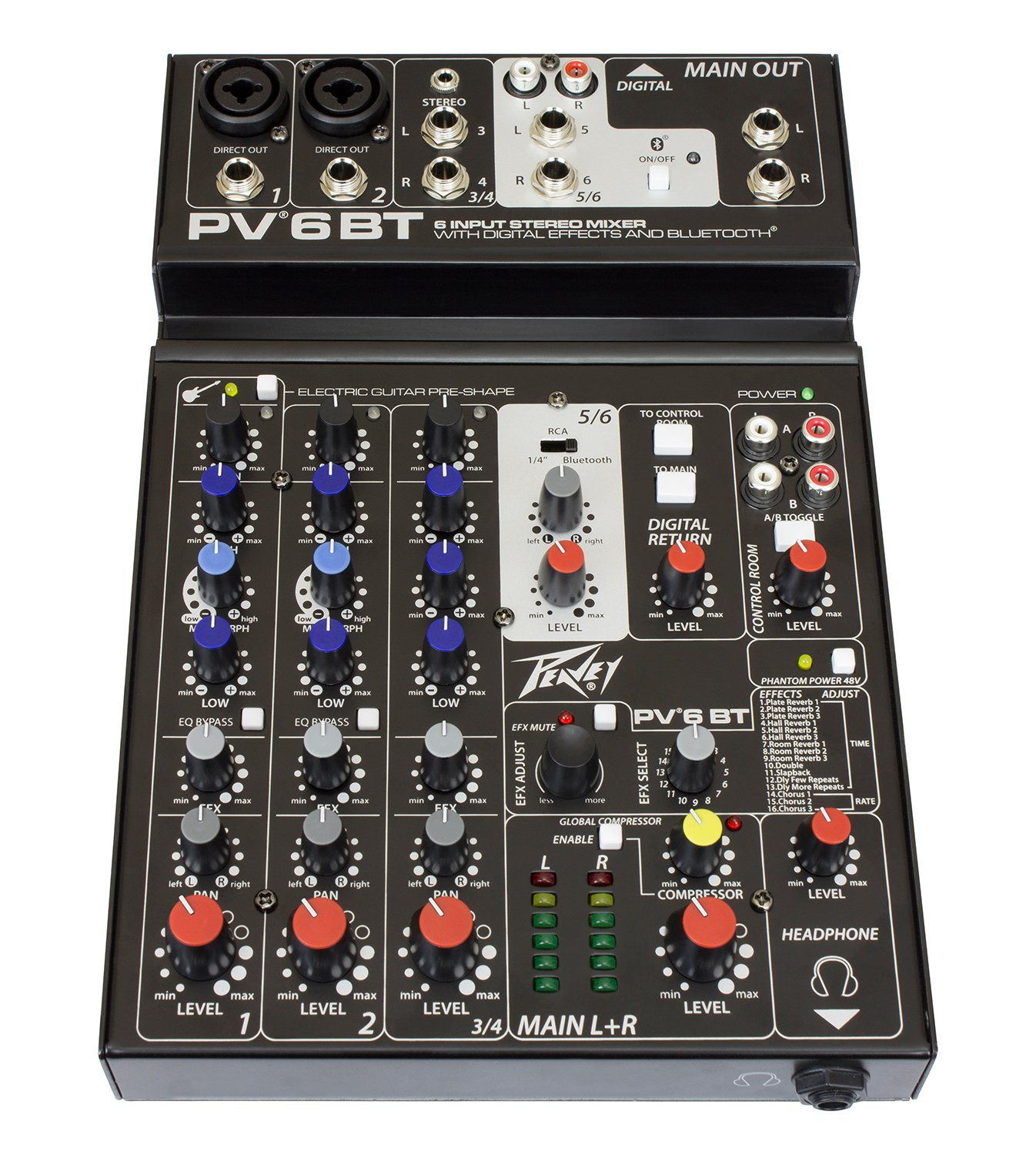 Peavey 03612590 PV6BT Non-Powered Mixer