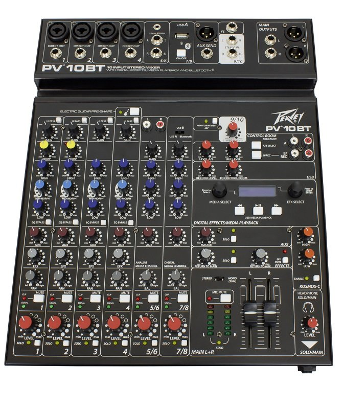 Peavey 03612790 PV10BT Non-Powered Mixer