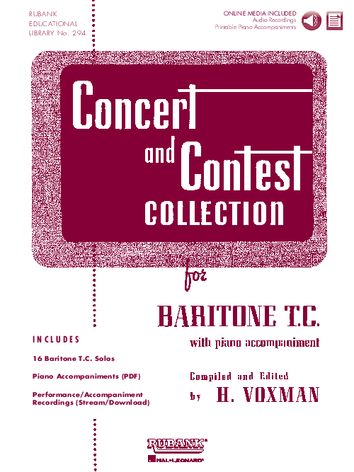 Concert and Contest Collection for Baritone T.C.