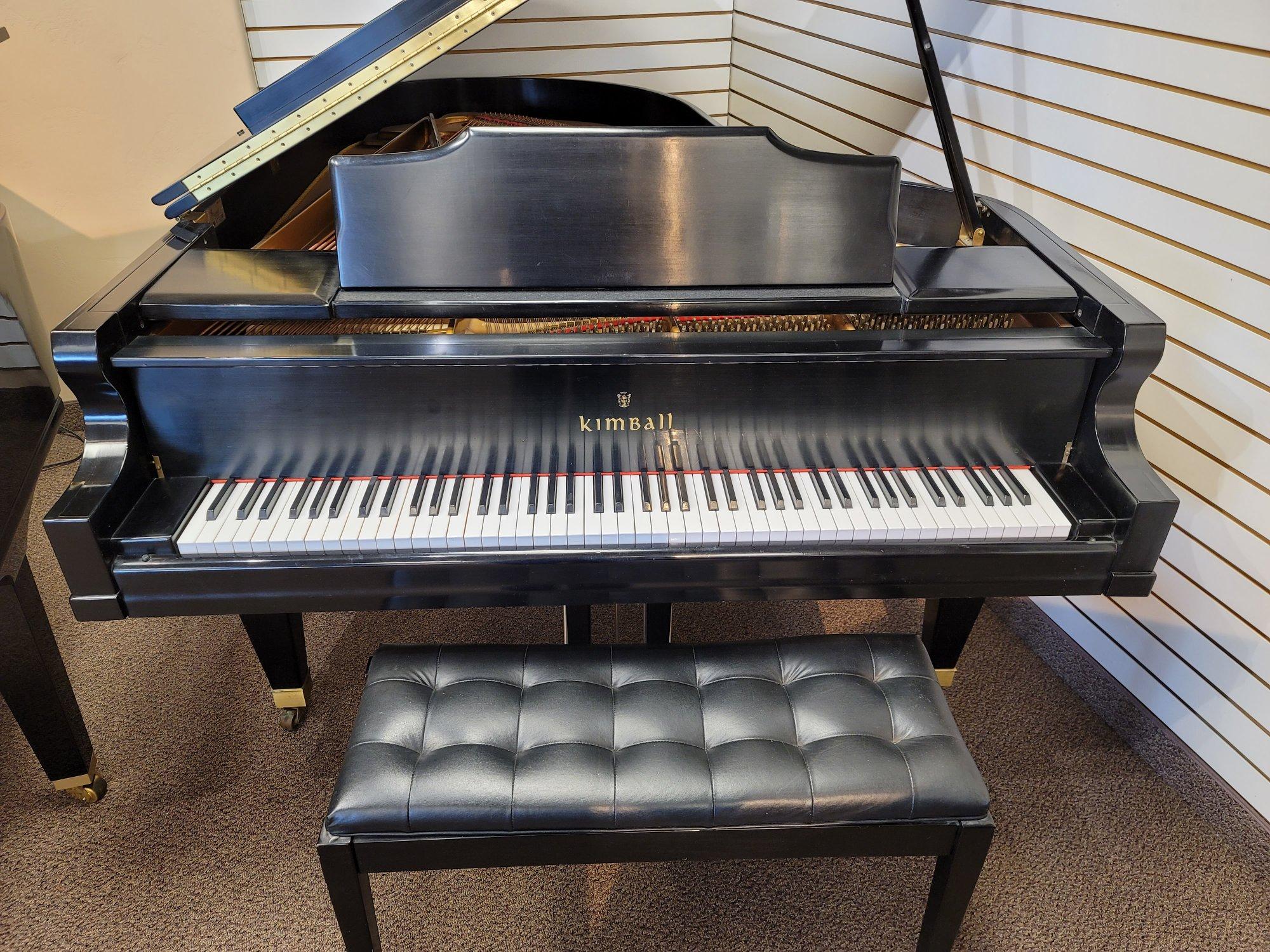 Kimball Grand Piano 6'7  Model 6710 in Satin Ebony