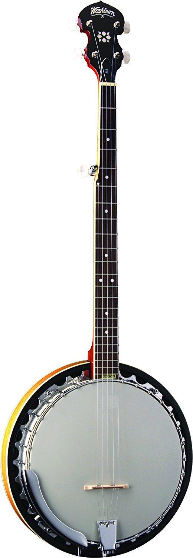 Washburn B9-WSH-A Five String Banjo Natural