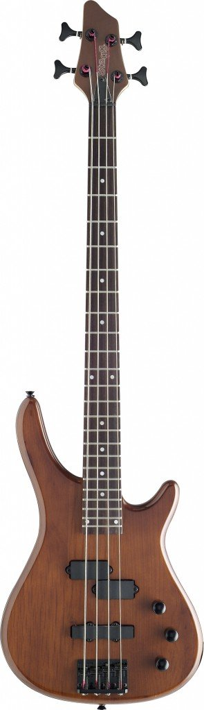 Stagg BC300-WS Fusion Bass GT- Walnut Stain
