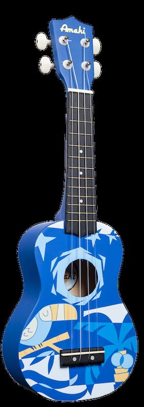 Amahi Soprano Blue Bird Ukulele